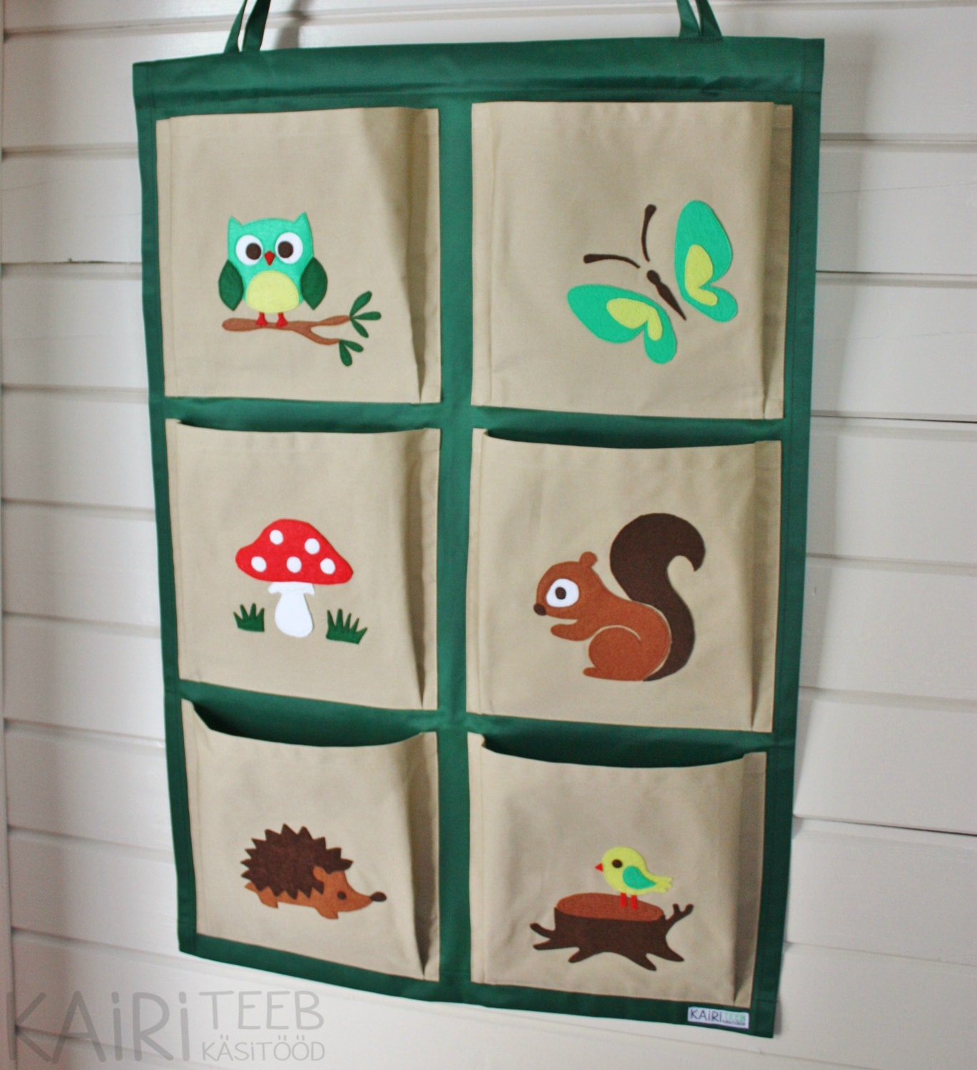 Kids Organizer Hanging Wall Fabric Pocket Storage For Books