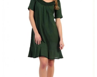 Maternity dress with two layers for moisture management 100% cotton MADE IN USA