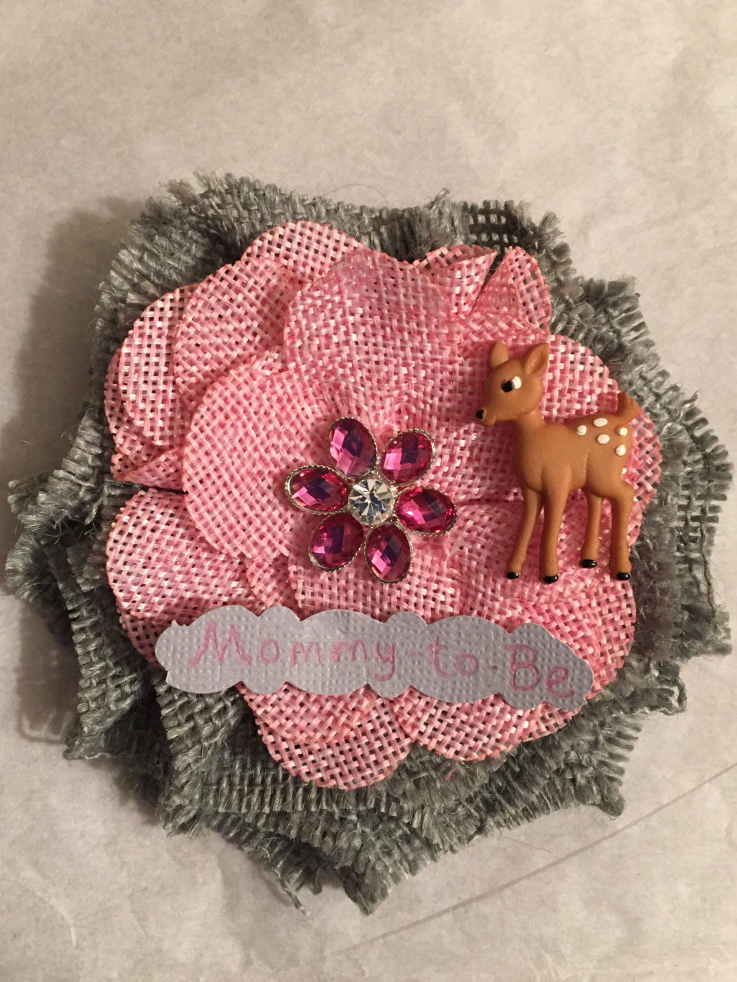 deer mommy to be baby shower corsage fawn mom to be corsage
