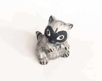 Vintage Raccoon Figurine
