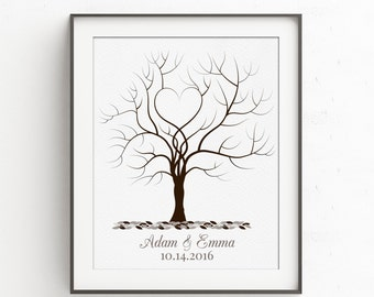 Fingerprint Tree Wedding Guestbook | Guest Book Alternative | Thumbprint Tree | Wedding Guest Book | Wedding Fingerprint Tree Guestbook