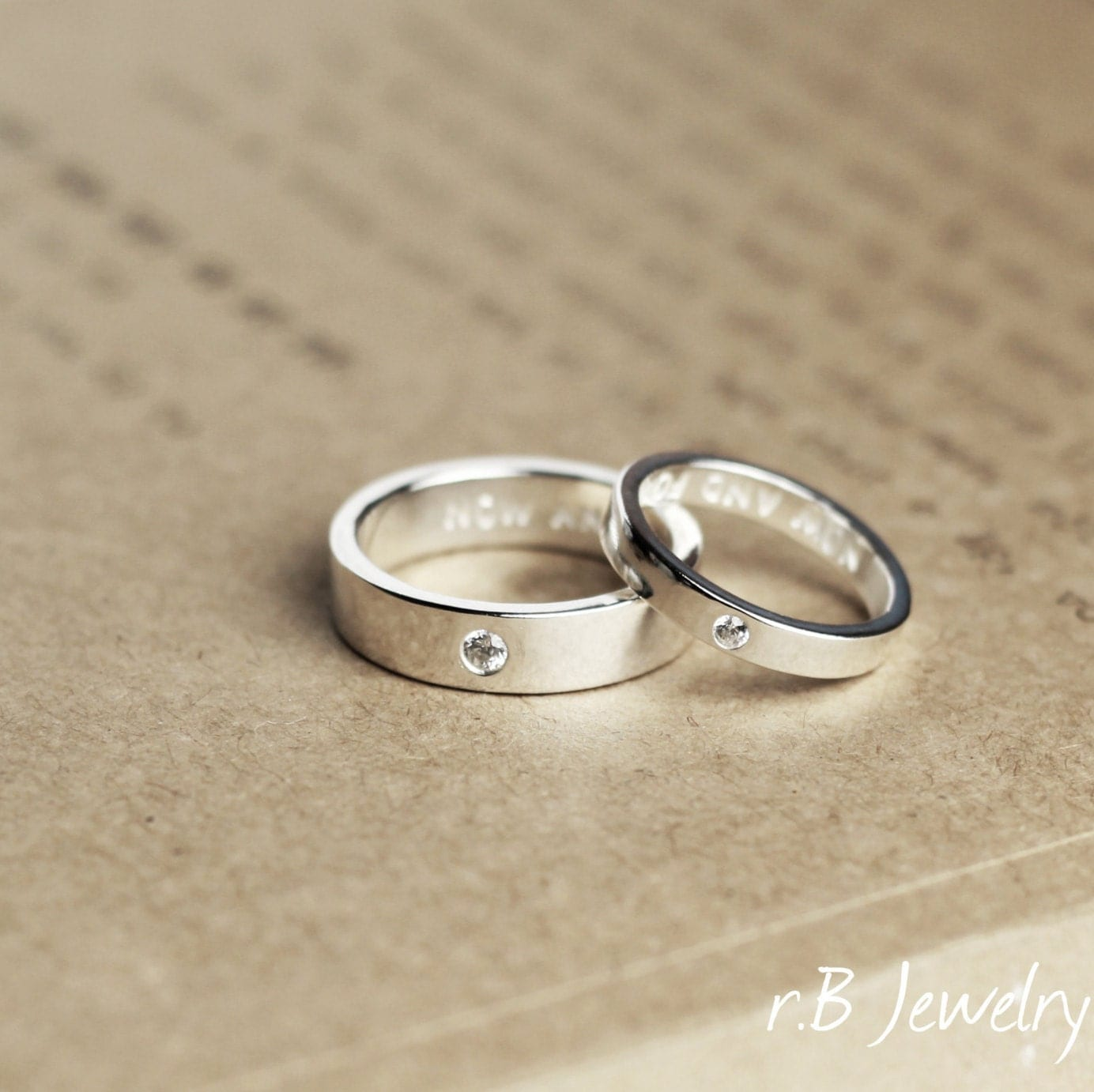 matching promise rings his and gift for couples by