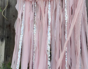Ballerina Party Decorations, Pink Silver Birthday Party Baby Shower Nursery, Ballet slippers, Pink tutu, Nursery Curtains