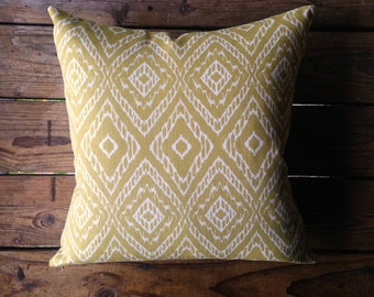 Outdoor Ikat Throw Pillow