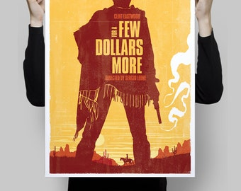 Alternative for a few dollars more movie poster country western classic film art home decor clint eastwood artwork