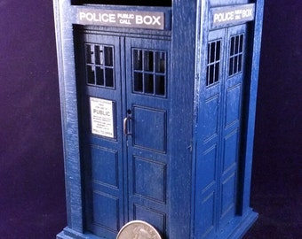 Laser Cut TARDIS Coin Bank