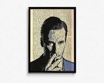 DON DRAPER, Mad Men Poster, Printable Men Gift, Mad Men Art, Jon Hamm, AMC Tv Series Wall Art, Dictionary Art Print, Poster Print