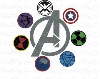 Avenger Icons SVG Design for Silhouette and other craft cutters (.svg/.dxf/.eps/.pdf)