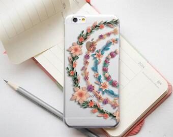 iPhone 5 Case Floral iPhone 5s Case Clear iPhone 6s Plus Case Clear Transparent TPU Case Silicone iPhone Phone Clear iPod Touch Clear Case