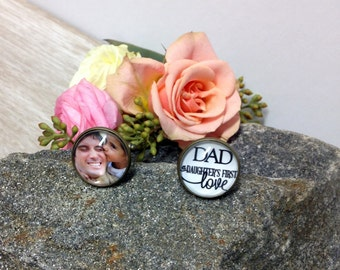 Custom Cufflinks- Silver or Bronze - Wedding Keepsake - In Memory - Loss of a Loved One -Photo Jewelry - Gift
