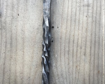 Traditional Hand forged Rustic Fire Poker - 'Nail'