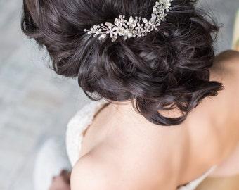 Bridal hair comb Crystal hair comb Bridal headpiece Bridal hair piece   Wedding hair comb Decorative comb