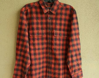 Mont-Bell Plaid Flannel Japan Longsleeve Shirt Size L