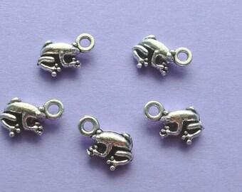 13 Frog Charms Silver - CS3014