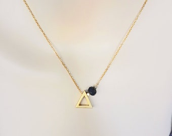 Gold Triangle Necklace, Dainty Necklace, Layering Necklace, Geometric Necklace, Bridesmaids Gifts, Bridesmaids Jewelry, Gift For Her