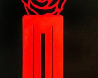 3D printed rose bookmark