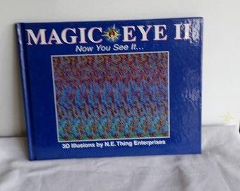 Magic Eye II, Hardcover, 1990, 3d Illusions, Fun Book, Gift Book