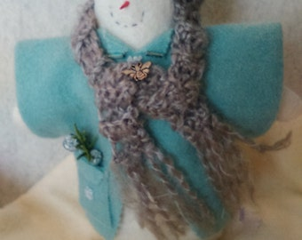 Snowman, homemade, one of kind, Christmas ornament