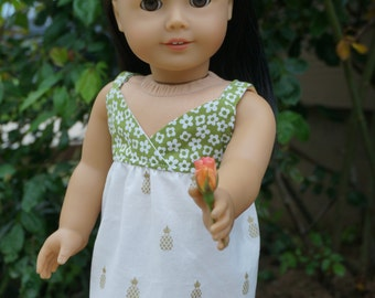Pineapple Print Sundress for American Girl Doll
