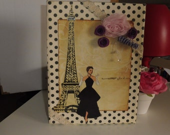 PARIS fashion mixed media decor for a gift and deco element