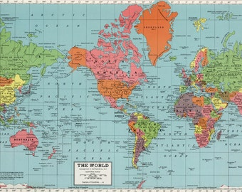 Vintage world map printable map print instant digital download world map printable digital downloadntage world map map high resolution vintage map instant digital downloadintable pastel map gumiabroncs Image collections