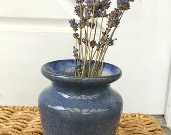 Blue Ceramic Bud Vase