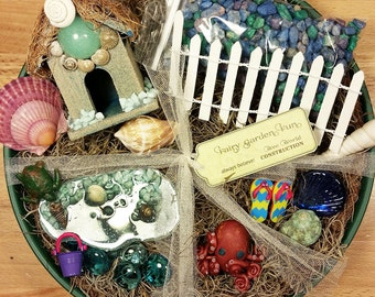 Fairy Garden Kit, Miniature Beach Garden, Fairy Garden Supplies, Fairy Beach  Kit,