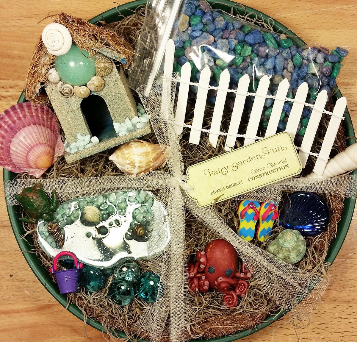 fairy garden kit miniature beach garden by