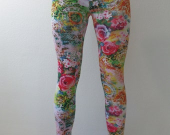 Leggings - colourful flowers