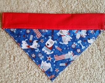 4th of July Dog Bandana / Patriotic Dog Bandana / Bufanda para Perros