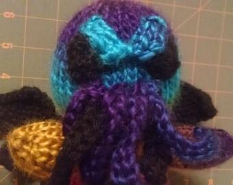 Knit Rainbow Cthulhu Amigurumi