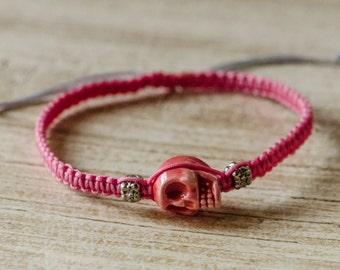 Skull String Adjustable Bracelet