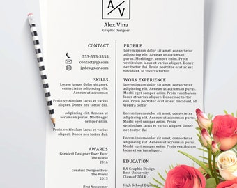 Resume template, professional resume template, simple resume template, modern resume template, resume template word editable resume template