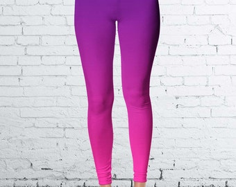 Purple and Pink Ombre Leggings