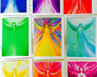 Healing Angel Art greeting cards