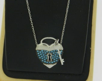 Silver Lock and Key Necklace