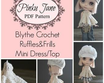 NEW PDF Blythe Crochet Ruffles and Frills Mini Dress/Top Pattern
