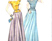 40s Tops Skirt Reproduction 1948 Retro Glamour evening wear sewing pattern Butterick 3130 Sz 8 to 12