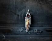 Sirenia's Talon No1 // Lab Created Opal, Gemstone Pear in Sterling Silver Pendant Necklace by Bellalili