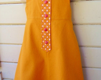 First Day of School one of a kind Jumper ready to ship immediately in girls size 6