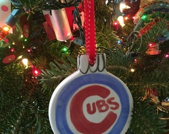 Chicago Cubs Christmas Ornament