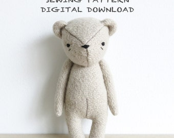 sewing pattern | the dear ones bear | soft toy pdf pattern digital download