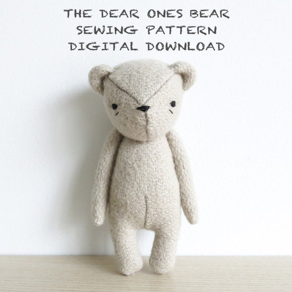 sewing pattern | the dear ones bear | soft toy pdf pattern digital download