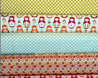 Riley Blake Little Matryoshka, fat quarters bundle of 6