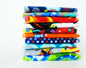 Boys Rocket Cloth Napkins - Space Aliens Kids Napkins - School Lunch Napkins - Childs Cloth Napkin - 5 or 10 - Lunch Box Napkins - 9 x 10
