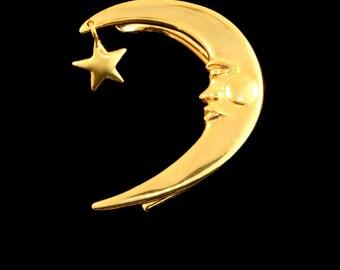 Celebrity Style Ear Wrap Moon Jewelry Crescent Moon Ear Wrap Gold Prince Ear Wrap Moon Ear Cuff Gold Vermeil Moon and Star Crescent Moon