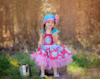 Little Girls Ruffle Dress - Toddler Clothes - Birthday  - Handmade Boutique Ruffle Dresses - Pink - Baby Girl - sizes 6 months to 8 years
