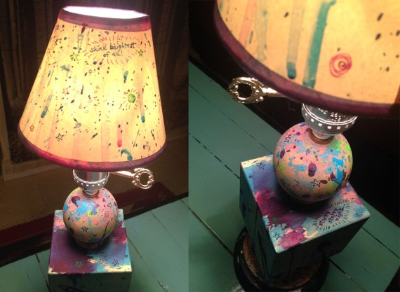 Outer space decor desk lamp outer space lamp home decor for Outer space home decor