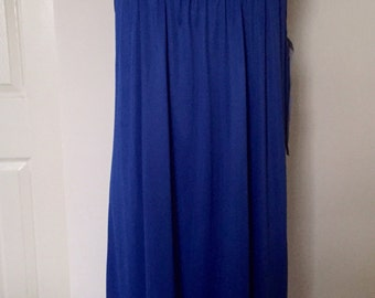 1980s Vanity Fair Royal Blue Vintage Nighty - small - Deadstock - nos - with tags