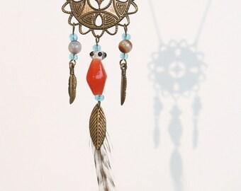 Minya - Feather Dreamcatcher Necklace